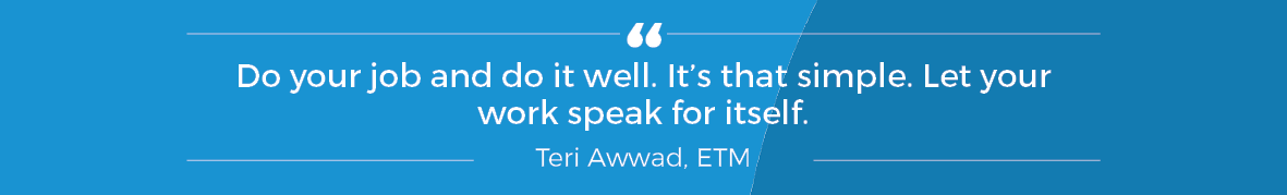 Quote from Terri Awwad